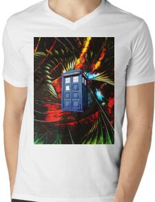 tardis in the mix of art Mens V-Neck T-Shirt