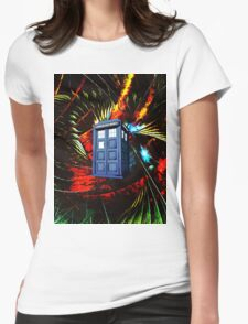 tardis in the mix of art Womens Fitted T-Shirt