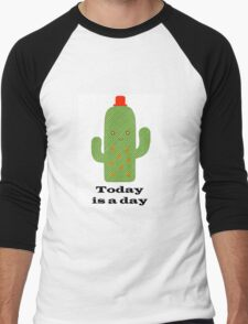 Positive Cactus Men's Baseball ¾ T-Shirt