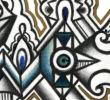 ABSTRACT - Design 011 (Color) Sticker