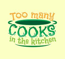 Too many cooks in the kitchen! in a soup pot by jazzydevil