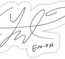 Exo's Park Chanyeol Signature  Sticker