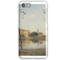 Jean-Baptiste-Camille Corot  FRENCH CITY AVRAY,  POND, THE HOUSE Mr. COROT FATHER AND BOOTH iPhone Case/Skin