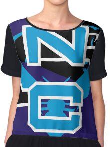 North Carolina Panthers Hornets Chiffon Top