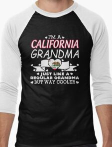 I'm a California Grandma Men's Baseball ¾ T-Shirt