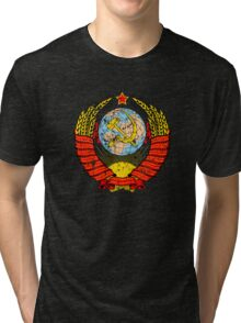 Soviet Coat of Arms - distressed look Tri-blend T-Shirt