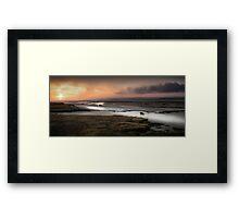 Penclawdd marsh sunset Wales Framed Print
