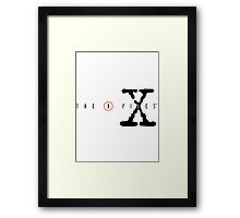 The X Files Logo Framed Print