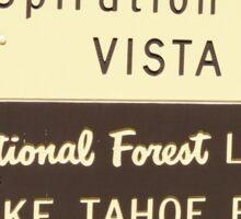 Lake Tahoe Vista Point  Sticker