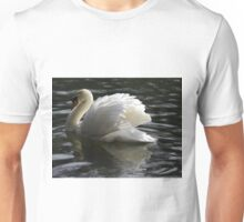 Swan on the lake at Tehidy Woods in Cornwall.  Unisex T-Shirt