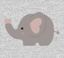 Cute Pastel Little Elephant Kawaii One Piece - Long Sleeve