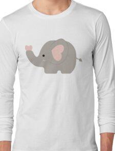 Cute Pastel Little Elephant Kawaii Long Sleeve T-Shirt