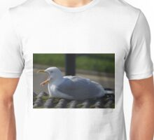 Yawning Seagull in Hayle, Cornwall. Unisex T-Shirt