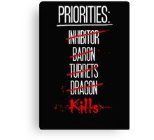 Priorities Canvas Print