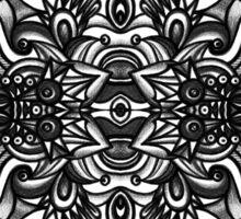 SYMMETRY - Design 012 (B/W) Sticker