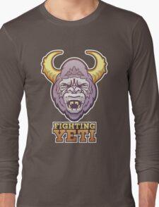 Fighting Yeti Sports Logo Long Sleeve T-Shirt