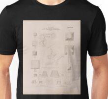 0734 Situationsplan von der Ruinen der Stadt Meroë nebst den dazu gehörigen Pyramidenfeldern Blatt 3 Unisex T-Shirt