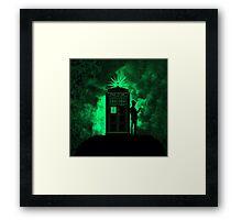tardis doctor who Framed Print