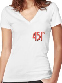 Fahrenheit 451 Women's Fitted V-Neck T-Shirt