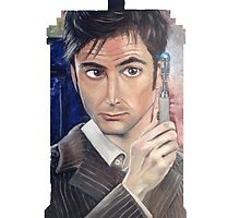 """Number 10"" - Tardis shirt by Skye Tranter"