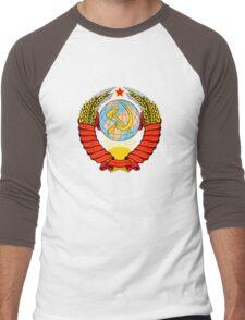 Soviet Coat of Arms Men's Baseball ¾ T-Shirt