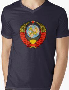 Soviet Coat of Arms Mens V-Neck T-Shirt