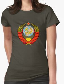 Soviet Coat of Arms Womens Fitted T-Shirt