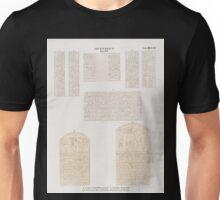 0425 Neues Reich Dynastie XVIII a f Altar und Felsenstele f von Ost Selseleh Gebel el Silsilis g h Felsenstelen zwischen Assuan Aswân und Philae Unisex T-Shirt