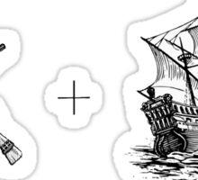 Guns and Ships Sticker