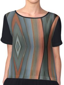 Grey and orange - 2007 Chiffon Top