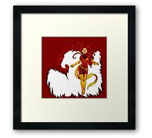 Fire and Life Framed Print