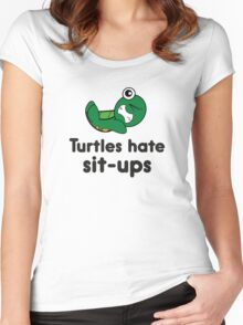 Turtles Hate Sit-Ups Women's Fitted Scoop T-Shirt