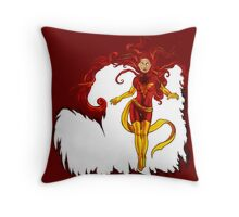 Fire and Life Throw Pillow
