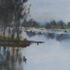 The Yarra River at Eltham Vic Australia by Margaret Morgan (Watkins)