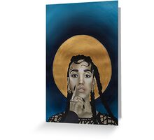 FKA Twigs - Godly Golden Halo Greeting Card