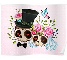 Together Forever - Sugar Skull Bride & Groom Poster