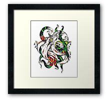 Rosey tentacles Framed Print