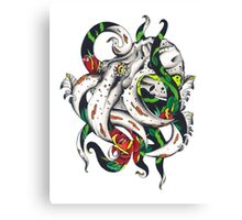 Rosey tentacles Canvas Print