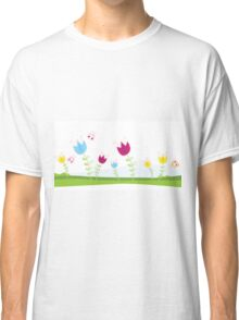Tulips. Spring flowers. Vector Illustration. Classic T-Shirt
