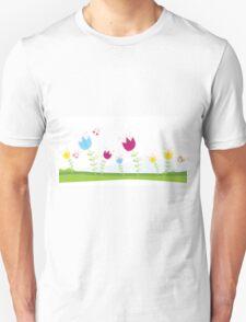 Tulips. Spring flowers. Vector Illustration. Unisex T-Shirt