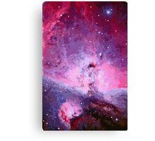 Pixel Pink Nebula Canvas Print