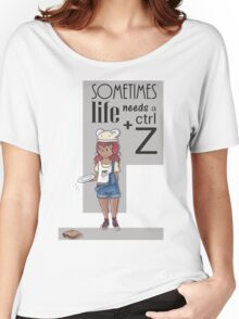 Ctrl + Z -  The waitress and sandwich Women's Relaxed Fit T-Shirt