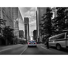 Canadian police car Vancouver Photographic Print