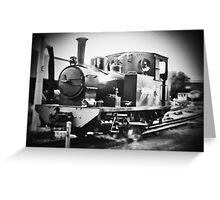 Peronne the big black steam train Greeting Card