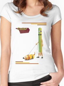 Blind Color Women's Fitted Scoop T-Shirt