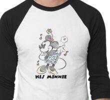 Sketch Minnie Men's Baseball ¾ T-Shirt