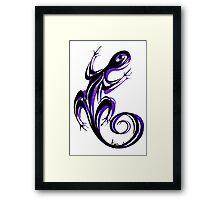 Gecko Shadow Framed Print