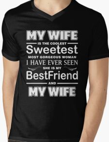 I LOVE MY WIFE Mens V-Neck T-Shirt