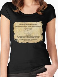 Directions to monkey island Women's Fitted Scoop T-Shirt