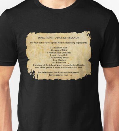 Directions to monkey island Unisex T-Shirt